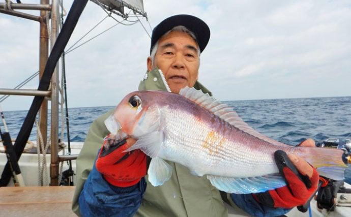 玄界灘沖五目釣行 48cm甘鯛にレンコ平均36尾【福岡県・金生丸】