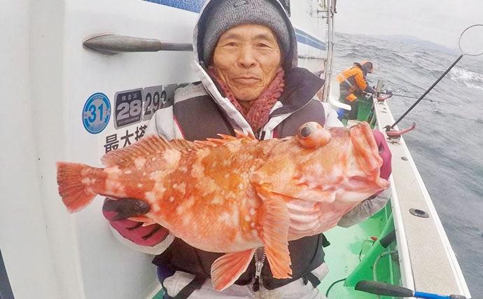 【大分沖】船釣り最新釣果情報まとめ 50cm超アジに10kgカサゴ
