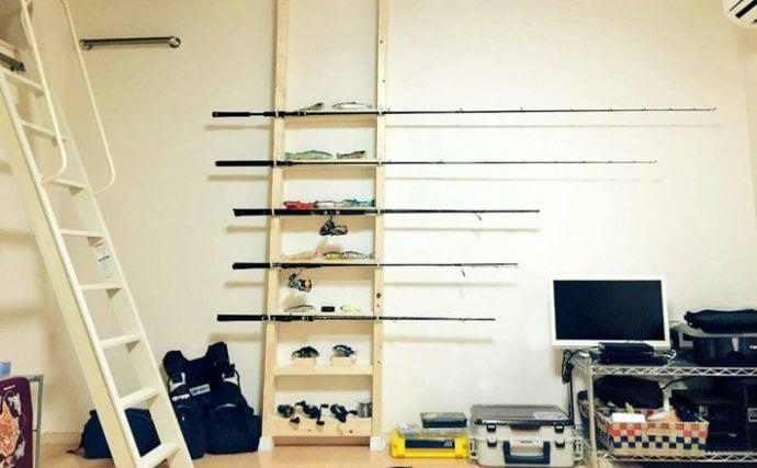 釣具をオシャレに収納できる飾り棚の作り方 女性アングラーが紹介!