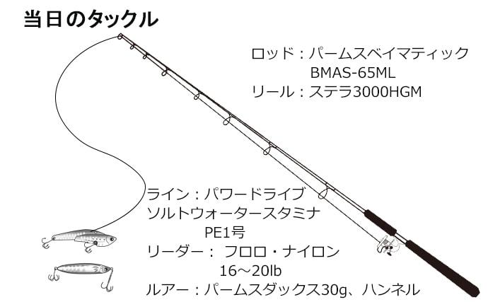 ボートルアーゲームで年無し&65cm超シーバスキャッチ【愛知県】