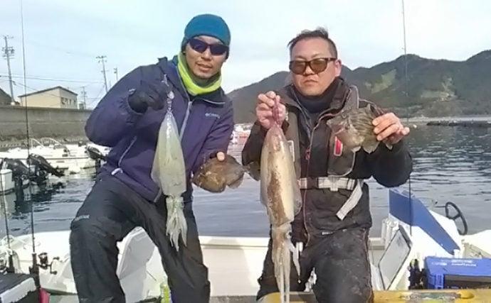 【三重県】船釣り最新釣果情報 2kg超春アオリイカにワラサも!