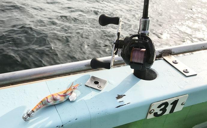 船エギング初挑戦で船中最大2kgアオリイカ ビギナーズラック発動!