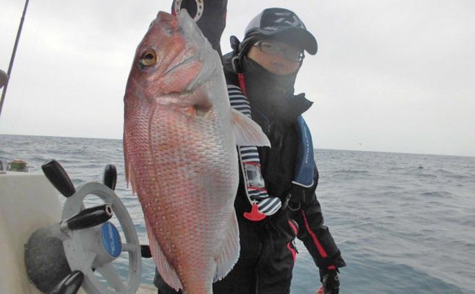 【響灘】船釣り最新釣果 スーパーライトジギングにタイラバに五目釣り