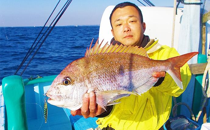 タイラバ・ジギング・テンヤで真鯛 仕立て船で満喫【千葉県・加平丸】