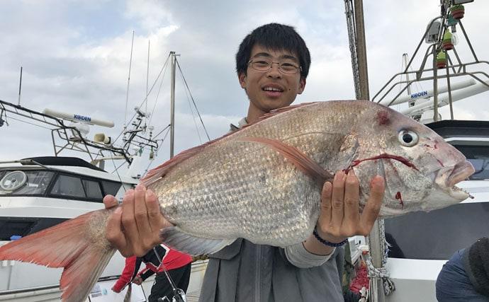 【玄界灘】タイラバ&ジギング最新釣果 マダイ28尾にヒラマサ全員安打