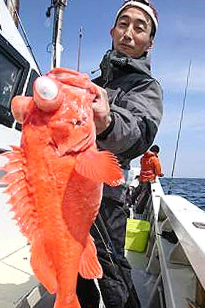 志摩沖ディープジギングでアコウダイ 深海の超高級魚【三重・トロ丸】