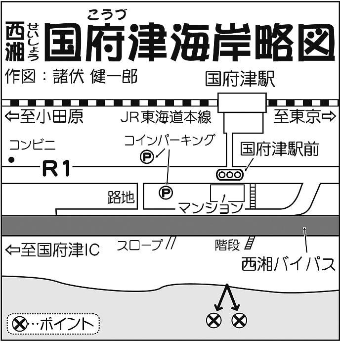 サーフ投げ釣りで本命シロギス2尾 7色に反応【神奈川・国府津海岸】