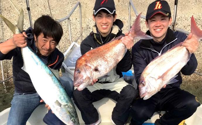 タイラバ&ジギング釣行 72cmマダイに92cmブリ!【長崎県・RYUSEI】