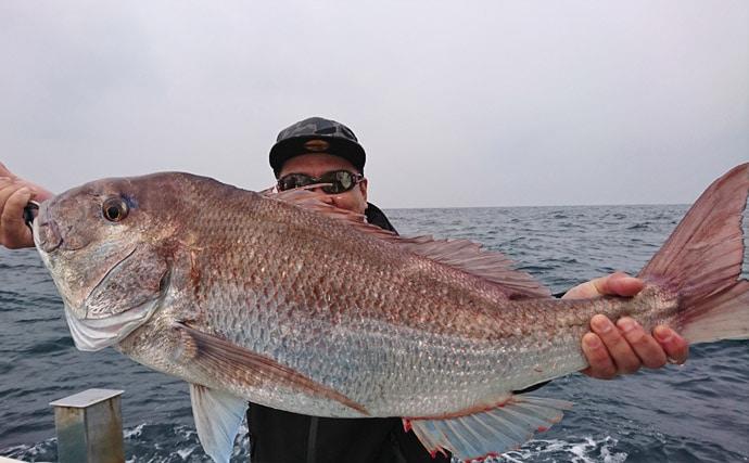【響灘】ジギング&タイラバ最新釣果 76cmマダイに9.5kgブリ
