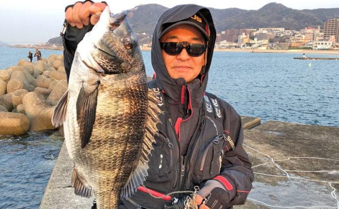沖堤フカセ釣りで良型チヌ乱舞 これぞ乗っ込み【兵庫・須磨浦一文字】