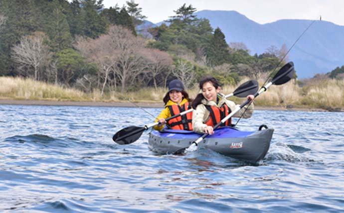 釣りキャンプ女子会開催 カヤックフィッシング満喫【神奈川・芦ノ湖】