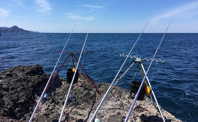 磯から投げ釣りでポン級アブラメ 磯際狙いがアタリ【兵庫・新温泉町】