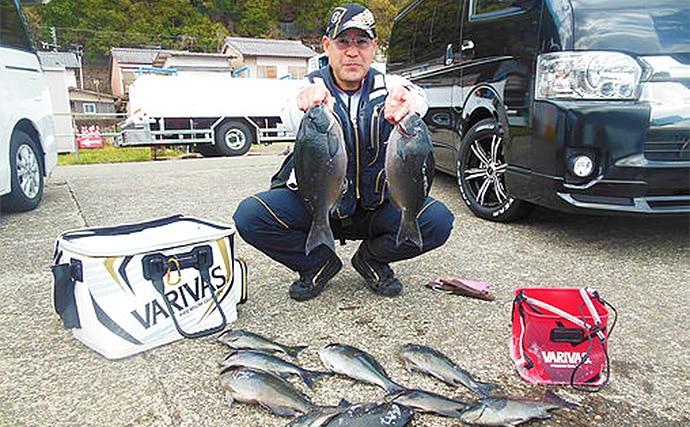 フカセ釣行で44cm頭に尾長グレ連発 マキエワークでウスバハギ対策
