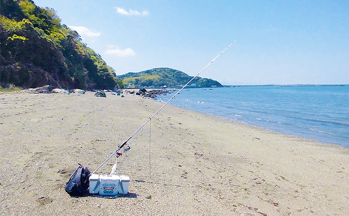 投げ釣り19.5cm頭にキス6尾 シーズンインは自ら調査【三重県】