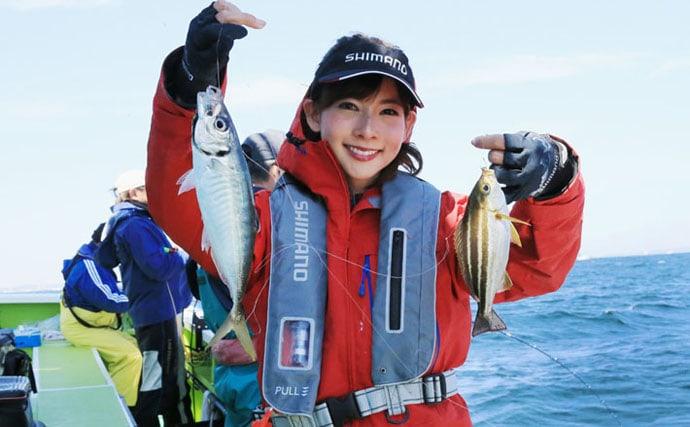阪本智子がライトコマセ釣りで五目達成 次は十目?【神奈川・忠彦丸】