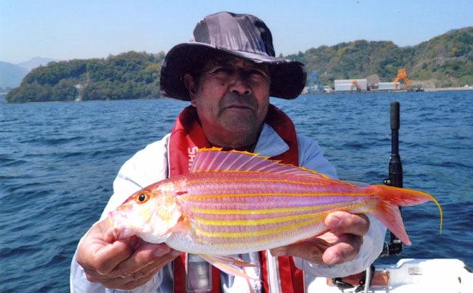 マイボートで五目釣り アジにイトヨリにマダイ【大分県・津久見湾】