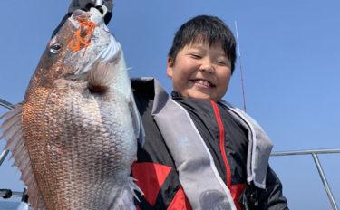【響灘】船釣り最新釣果情報 タイラバで88cm大型マダイに青物も!