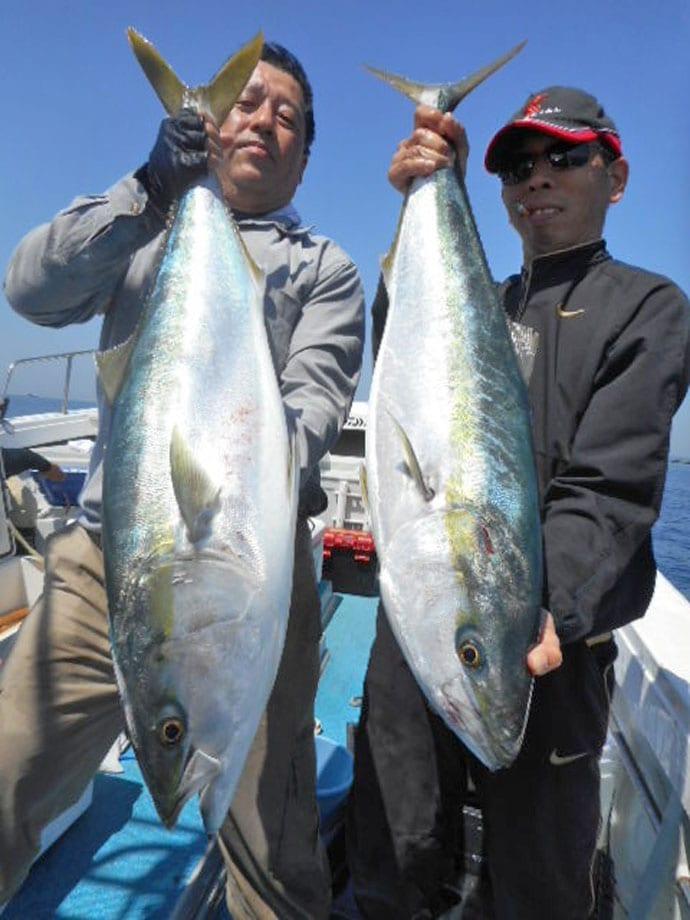 【芦屋沖】船釣り最新釣果 11kgヒラマサ含め船中青物70尾ヒット