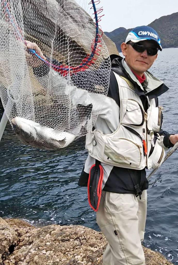 沖磯フカセ釣りでグレ15尾 待望尾長に47cmクロダイも【三重県】