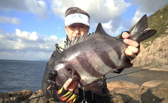 赤貝エサで2kg級イシダイ サンノジ釣れたら本命リーチ?【鹿児島】