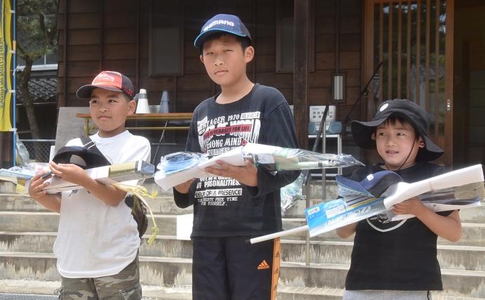渓流釣り大会で良型ヤマメ ジュニアの部は最高28cm【兵庫・岸田川】
