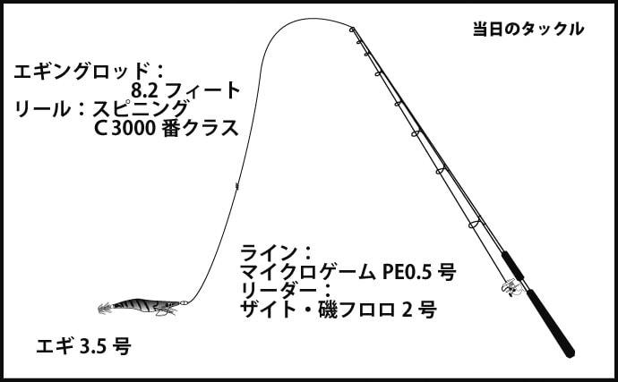 孫連れエギング釣行で1kg超アオリ 水温がキモ【高知県・甲浦漁港】