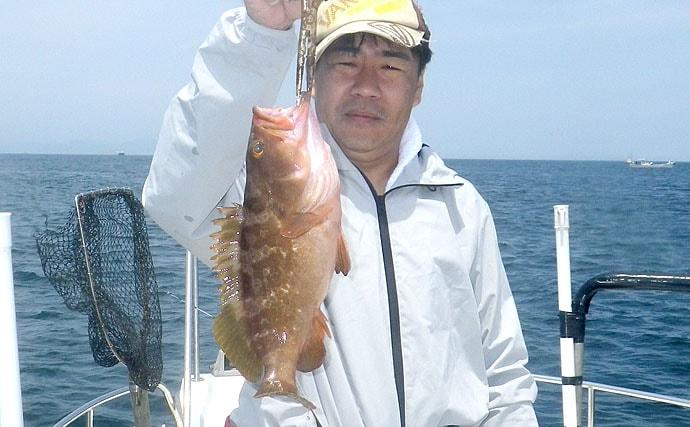 フォール重視アクションのマイクロジギングでアコウ【徳島・鳴門海峡】