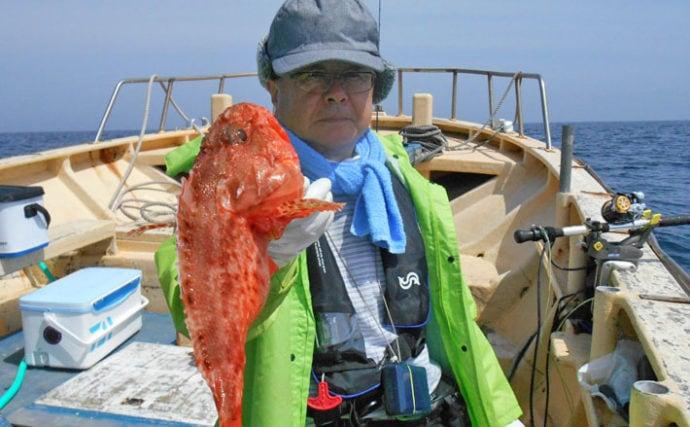 根魚五目釣りで船中オニカサゴ&オキメバルほぼ全員安打【第二二三丸】