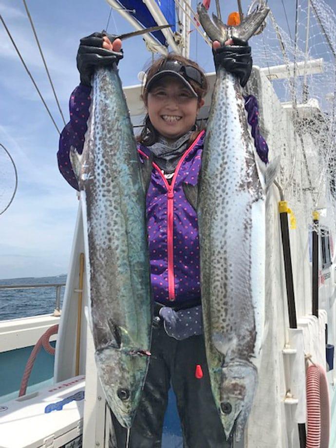 【愛知県】船釣り釣果速報 バラシやブレイクあるもサワラ船中全員安打