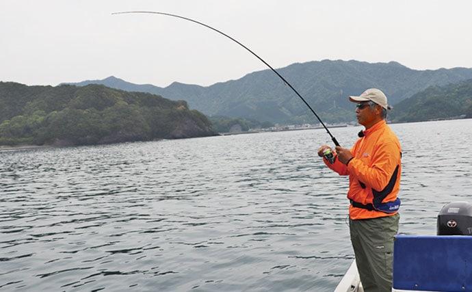 アタリ年の三浦沖ボートエギングで2.5kg頭に合計11杯【三重県】