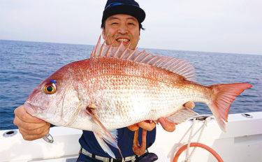 タイラバ釣行で74cm頭に20尾超え こっそりイカメタルも【福岡】