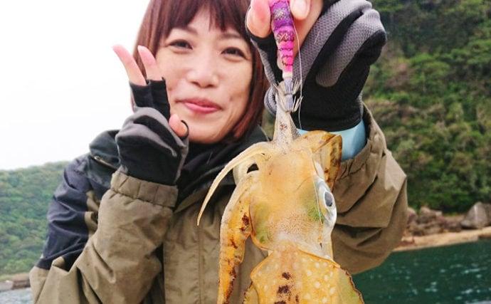 ボートエギング&ジギングで2kgアオリに50cm超アコウ【長崎県】