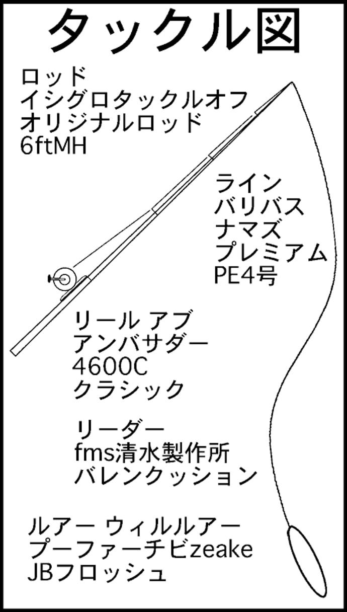 ナマズトップゲーム50cm級2本 バグ系1点シェイクでバホッ【愛知】