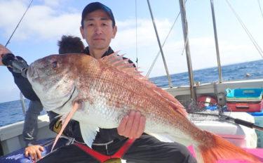 【響灘】船釣り釣果速報 84cmマダイにSLJでも多彩な釣果!