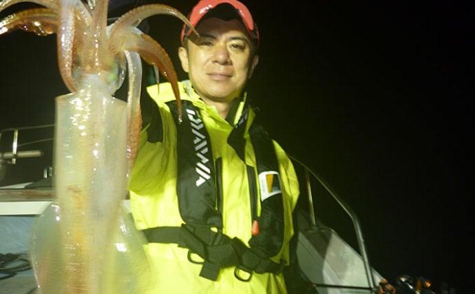 【福岡県】夜焚きイカ釣果速報 パラソル級も交じる3ケタ釣果!