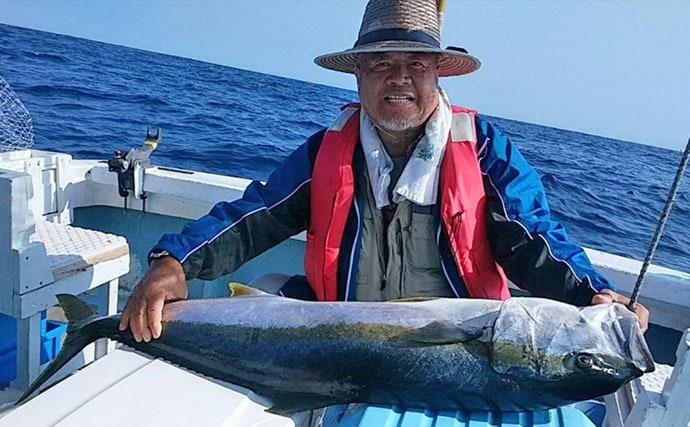 【玄達瀬】沖釣り釣果速報 完全フカセ釣りで132cmヒラマサ!