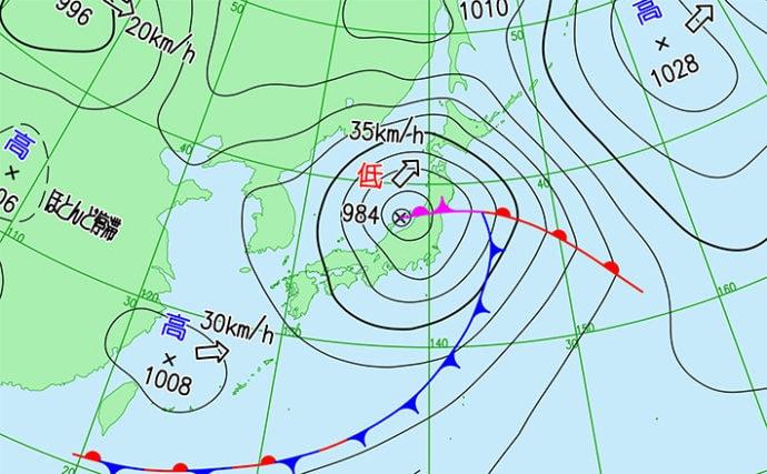 天気図から「風」を読む方法 高気圧から低気圧へ真っ直ぐ吹くは間違い?
