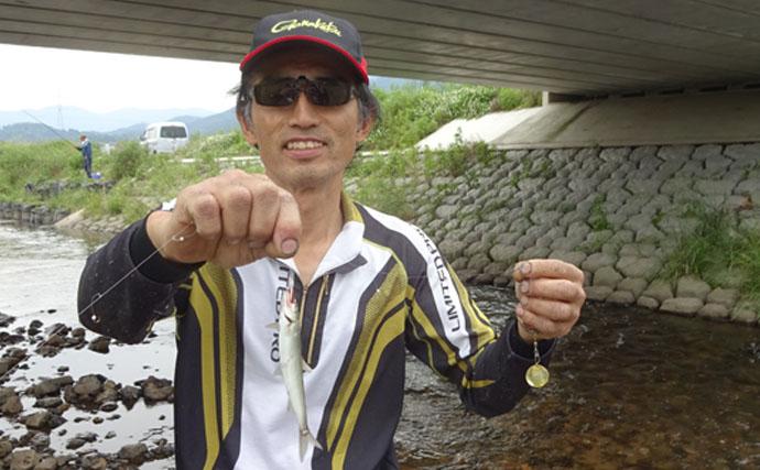 初挑戦の小アユ釣りで本命48匹 仕掛けの流し方に苦戦【滋賀県】