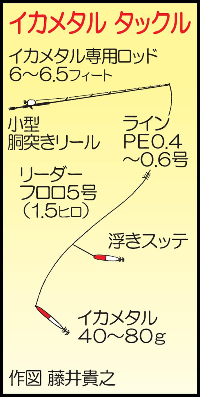 強風&大潮のイカメタル釣行で20杯 日ムラ大きく要リベンジ【進洋丸】