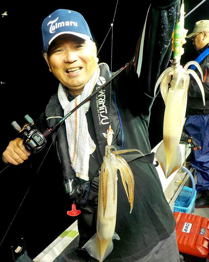 イカメタルで釣ったムギイカ泳がせ65cmマダイ イカダイ釣行【福井】