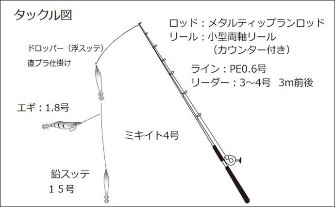 攻めの『メタルティップラン』でイカ20杯 雷が好釣果の合図?【福井】