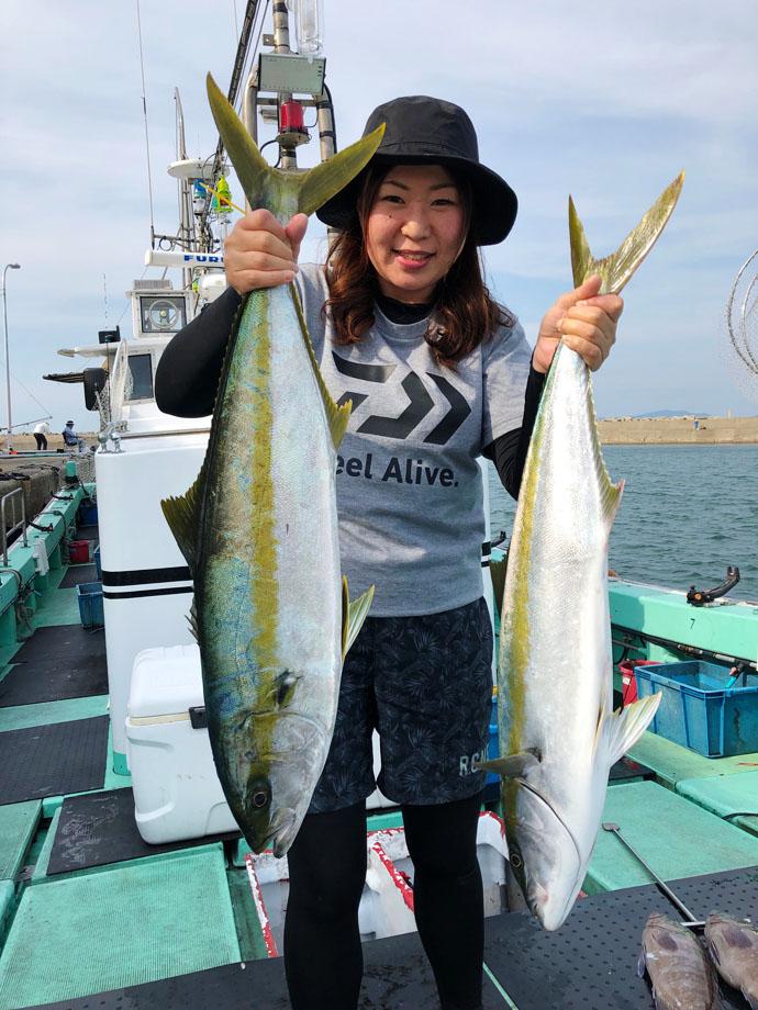【響灘】船釣り釣果速報 15kgアラ(クエ)に落とし込みでヒラマサ