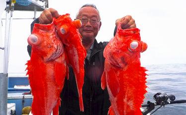 『LTメヌケ』釣りで5kg頭に船中トップ9尾【茨城県・幸栄丸】