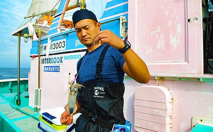 相模湾マルイカ釣行でツ抜け ムギのシーズン間近か?【ちがさき丸】