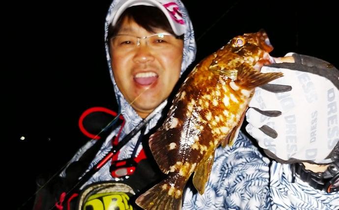 チニングで35cmキビレ&ライトロックゲームで良型カサゴ【愛知県】