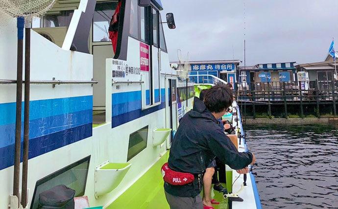 東京湾『沖五目』釣りで重量級メダイに挑戦 ラストにドラマ!【忠彦丸】