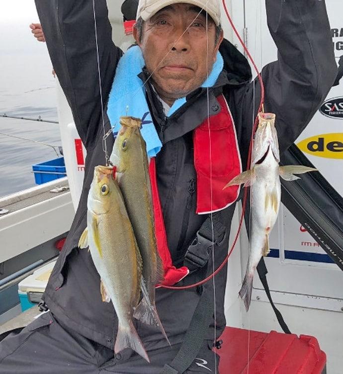 【大分県】船釣り釣果速報 ジャンボイサキにドラゴン級タチウオ!