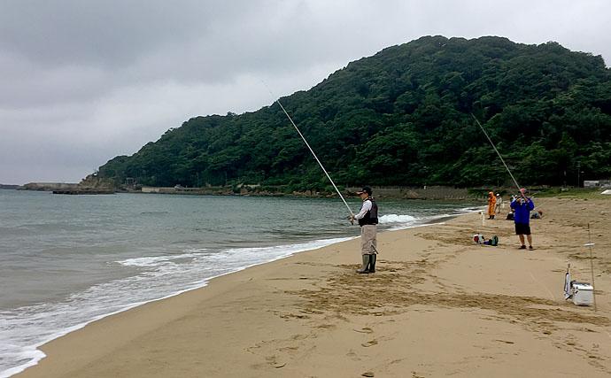 釣果数勝負の投げ釣り大会にてシロギス32匹で優勝【京都・浜詰海岸】