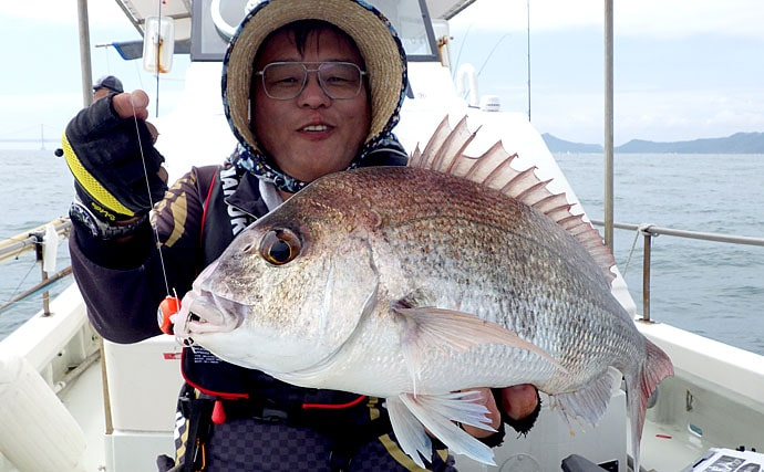 タイラバでブランド鳴門ダイに挑戦 サイズの差は巻き速度の差?