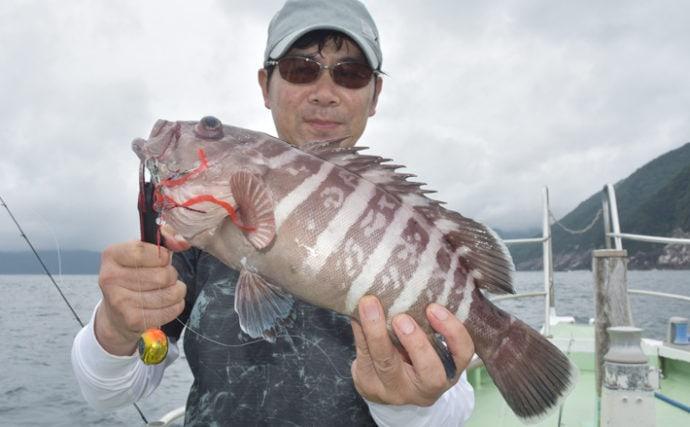 夏の尾鷲湾沖釣り堪能 釣り方自由でマダイ&マハタ&アマダイ【三重】